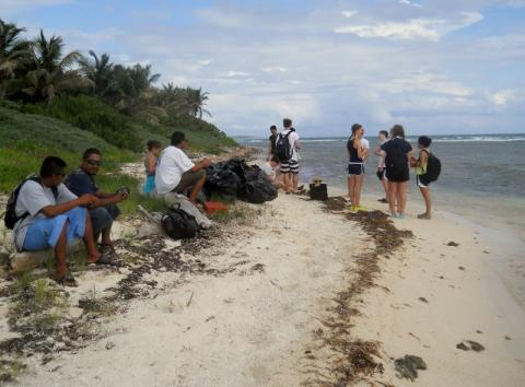 Beach Cleanup at Bacalar Chico