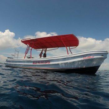 Belize Pro Dive Center Beach BBQ Boat