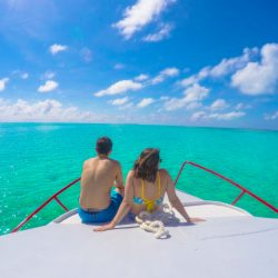 Relaxing on the boat with Belize Pro Dive Center